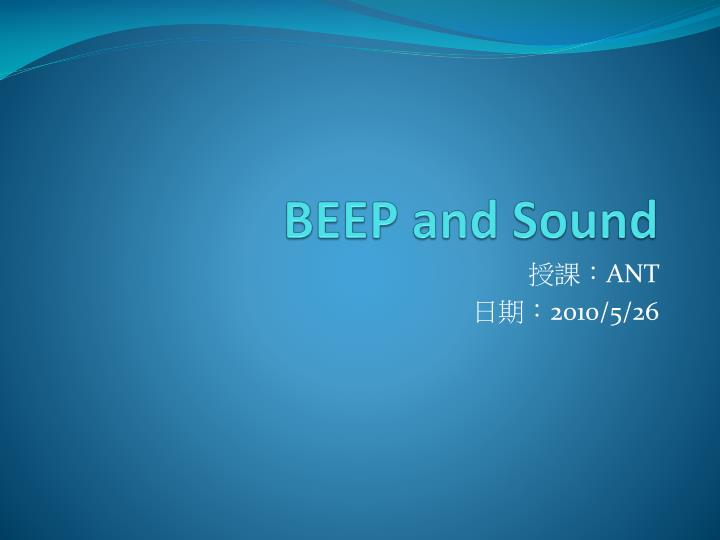 beep and sound n.