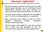 how much replication