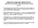 cebuano language objective 1 cebuano alphabet and pronunciation syl