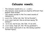 cebuano vowels