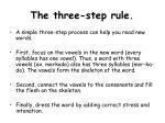 the three step rule