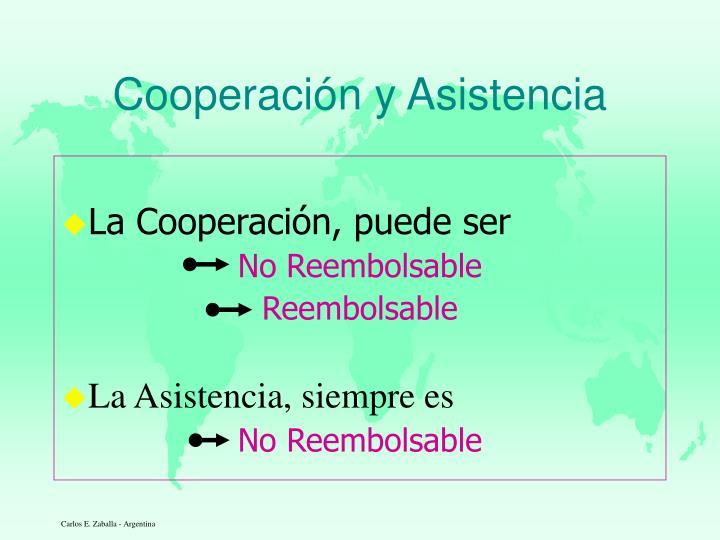Cooperaci n y asistencia