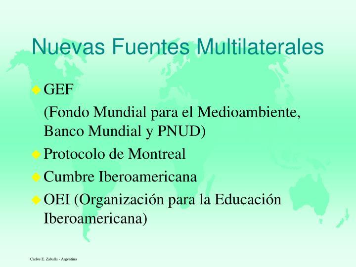 Nuevas Fuentes Multilaterales