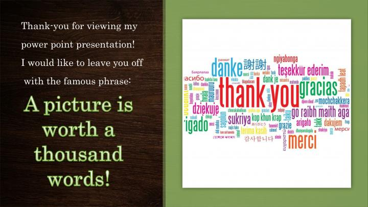 Thank-you for viewing my