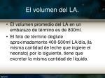 el volumen del la1