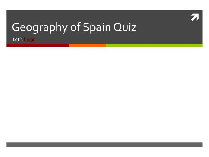 geography of spain quiz n.