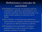 definiciones y concepto de asertividad