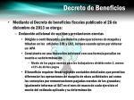 decreto de beneficios