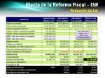 efecto de la reforma fiscal isr redacci n de ley