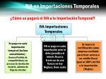 iva en importaciones temporales