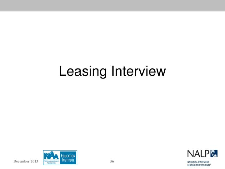 Leasing Interview