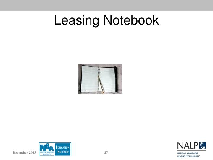 Leasing Notebook