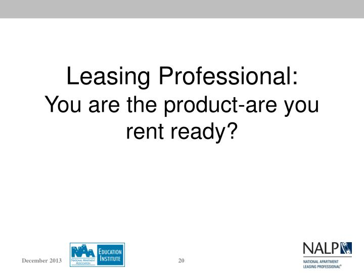 Leasing Professional: