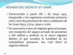r gimen del decreto ley 19990