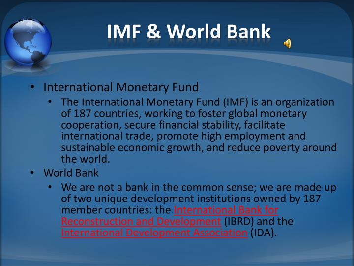 IMF & World Bank