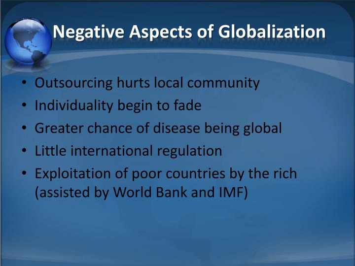 Negative Aspects of Globalization