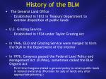 history of the blm