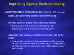 improving agency decisionmaking