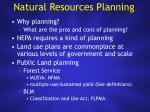 natural resources planning
