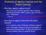 problems of agency capture and the public interest