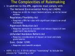the complexities of rulemaking