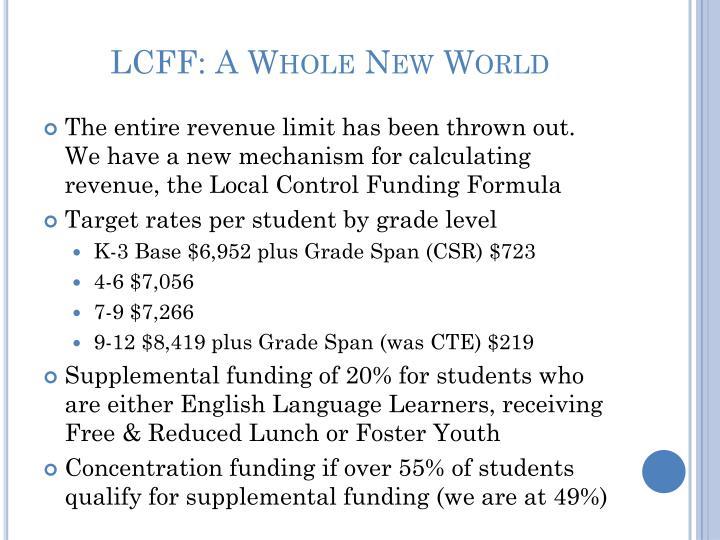 Lcff a whole new world