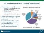 ifc is a leading investor in emerging markets power