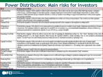 power distribution main risks for investors