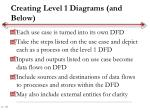 creating level 1 diagrams and below