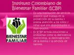 instituto colombiano de bienestar familiar icbf