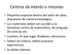 centros de inter s o rincones