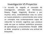investigaci n vs proyectos