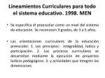 lineamientos curriculares para todo el sistema educativo 1998 men