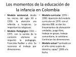 los momentos de la educaci n de la infancia en colombia