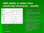 cqs ability to detect fine clustering structures results