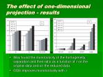 the effect of one dimensional projection results