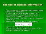 the use of external information