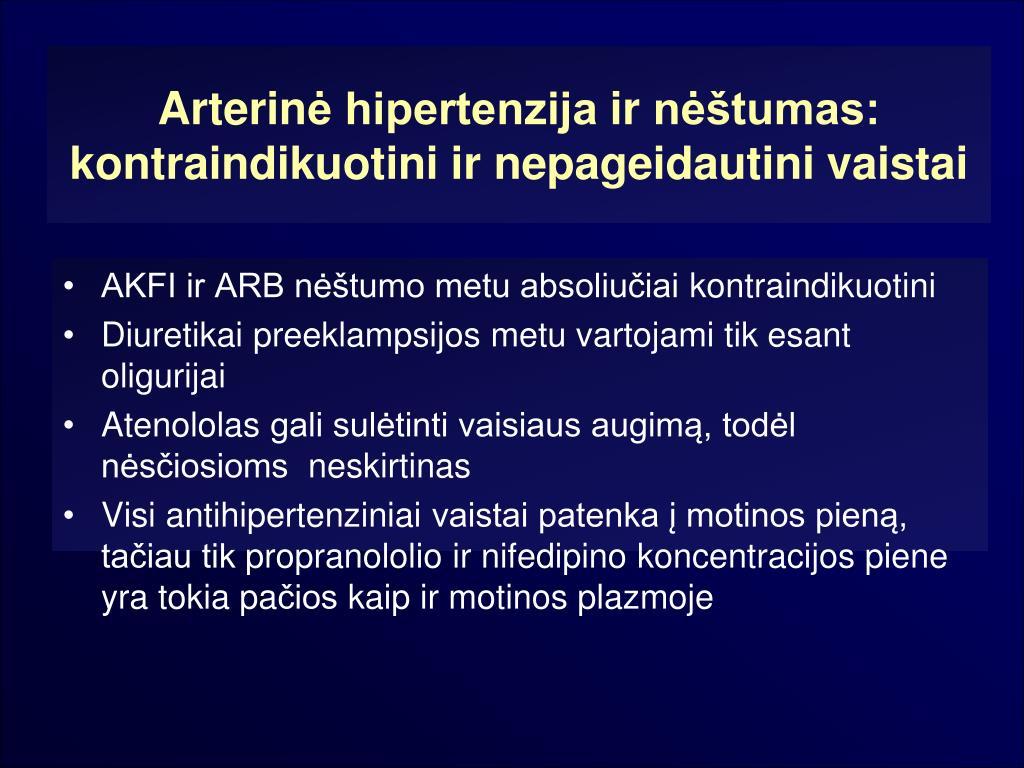 motinos hipertenzija