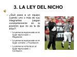 3 la ley del nicho