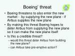 boeing threat