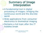 summary of image interpolation