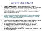 cementy ekspansywne