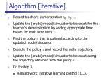 algorithm iterative