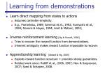 learning from demonstrations