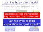 learning the dynamics model1