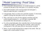 model learning proof i dea