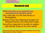 research task