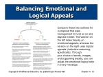 balancing emotional and logical appeals1