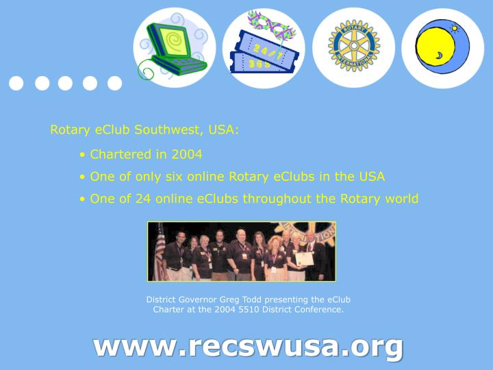 Rotary eClub Southwest, USA: