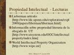 propiedad intelectual lecturas